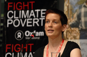 Charlotte Sterett at the Launch of Oxfam's briefing note on Adaptation Finance. Photo Swan Ti Ng/Oxfam