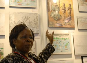 Ugandan Minister for the Enviroment, Maria Mutagamba. Photo Ng Swan Ti