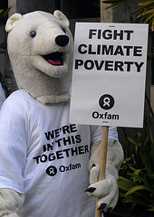 Polar Bear protesting for humans affected by Climate Change. Photos NG Swan Ti