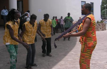 Performers at opening of Civil Society Forum